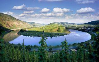Фото бесплатно вода, река, озеро, бегер, дорога, горы, трава, пейзажи