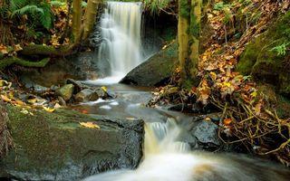 Фото бесплатно водопад, брызги, камни