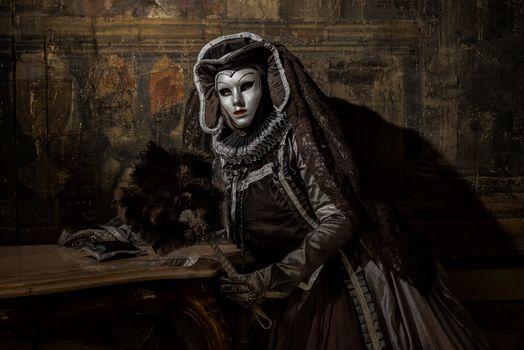 Фото бесплатно Венецианский костюм, костюмы, маска