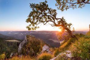 Заставки Швейцария,закат,горы,скалы,деревья,пейзаж