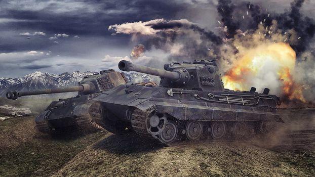 Фото бесплатно worldoftanks, wot, tigr 2