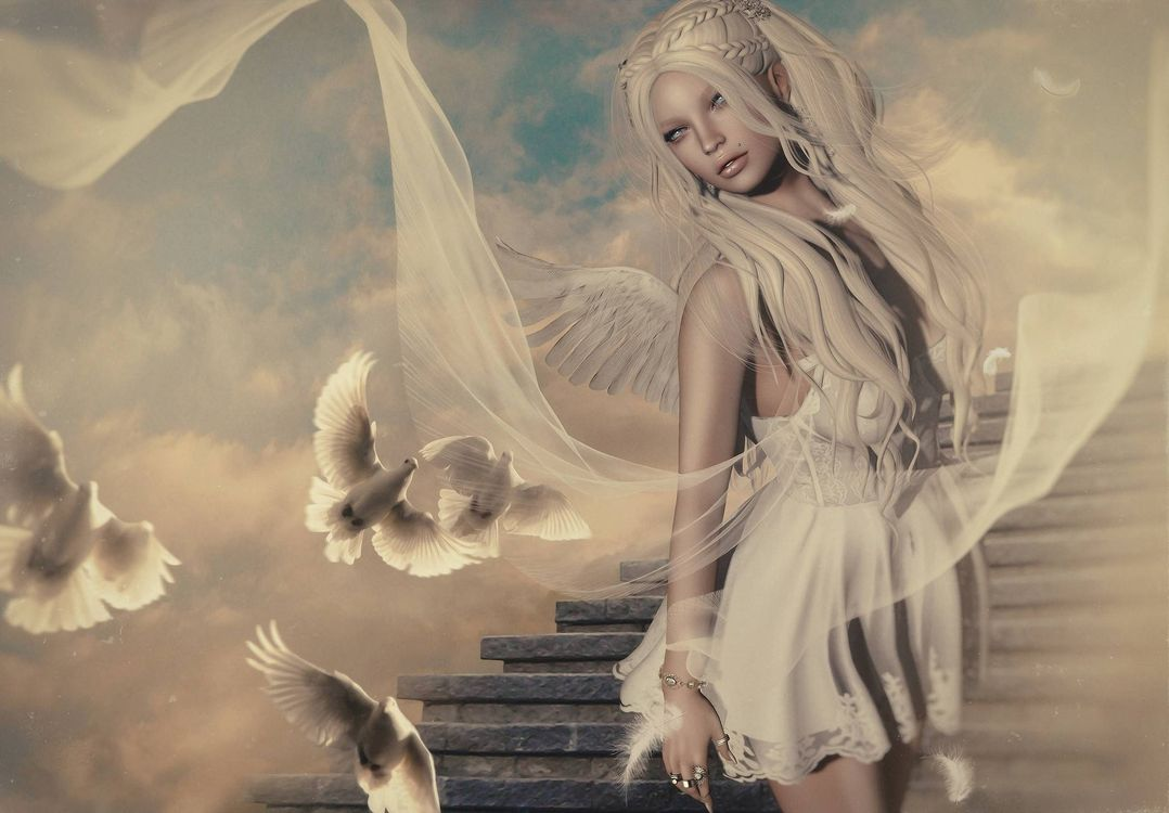 Фото бесплатно девушка, фантастическая девушка, ангел, фантастика, art, фантастика