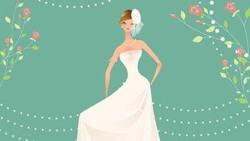 Бесплатные фото невеста,праздник,платье,вектор