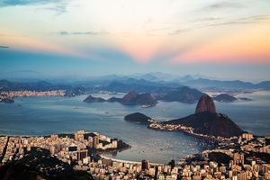 Фото бесплатно Сумерки над Рио-де-Жанейро, Рио-де-Жанейро, Бразилия