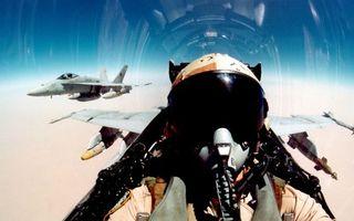 Фото бесплатно самолеты, истребители, пара, кабина, пилот, шлем, полет