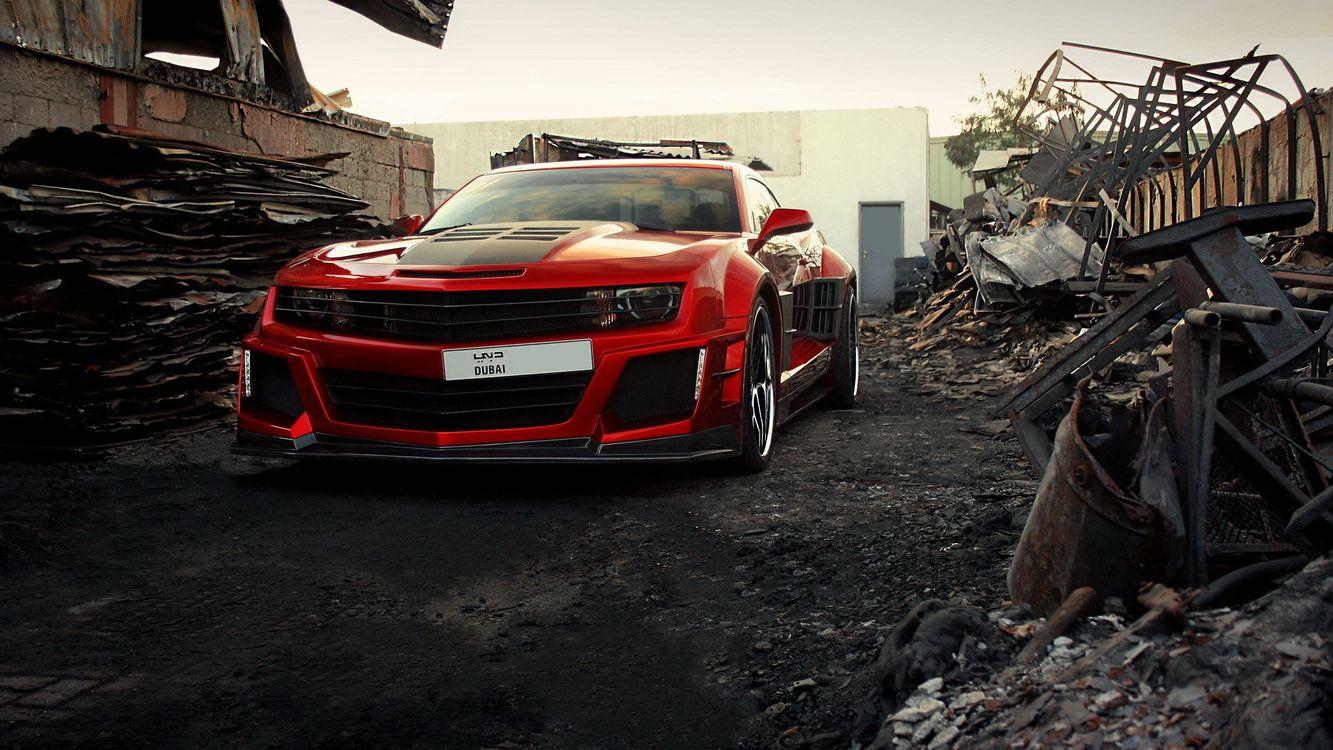 Фото бесплатно Chevrolet Camaro, красный, свалка, металлом, машины