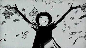 Бесплатные фото Mr Freeman,Мистер Фримен,разбрасывает деньги,купюры,персонаж,анимационного,сериала