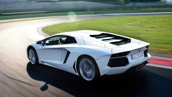 Фото бесплатно ламборджини, спорткар, белый