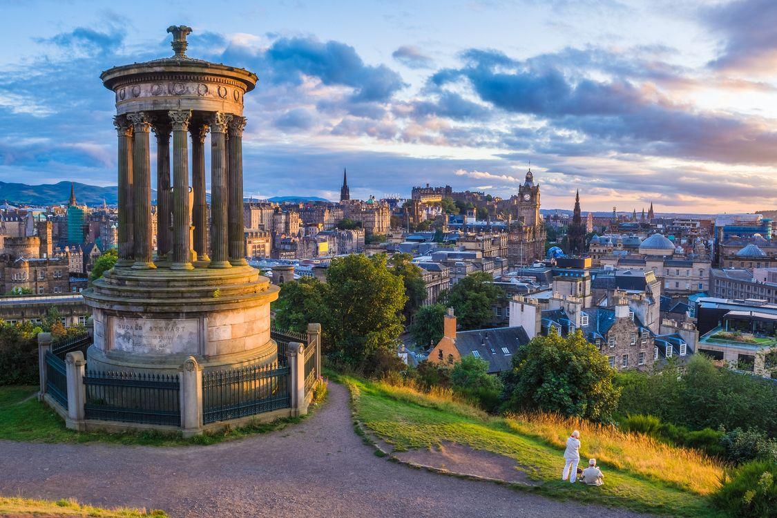 Фото бесплатно Calton Hill, холм в центре города Эдинбург, Шотландия, город