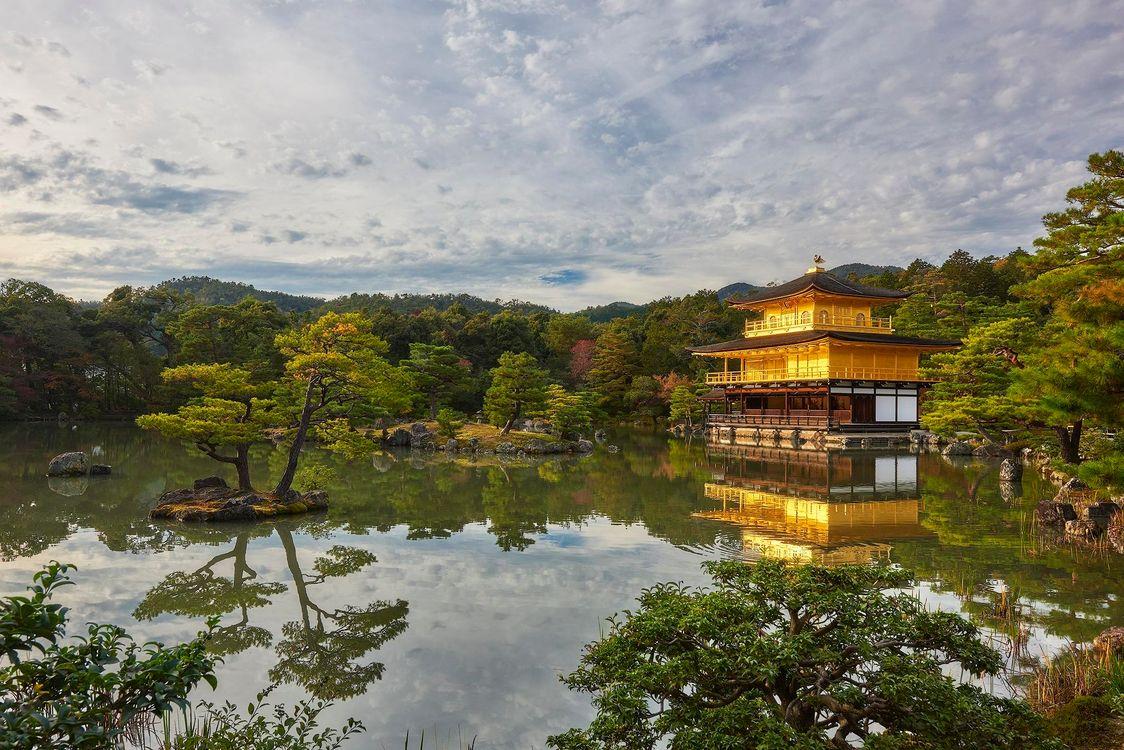 Фото Храм в Киото Япония пейзаж - бесплатные картинки на Fonwall