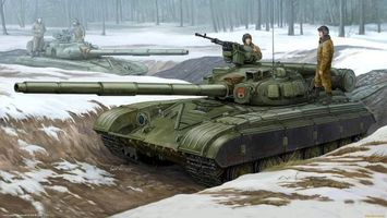 Заставки танк, окопы, танкисты, рисунок