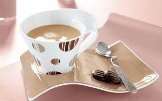 Бесплатные фото блюдце,ложечка,конфеты,чашка,стиль,чай с молокам