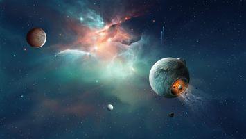 Бесплатные фото Космос,планета,Необъятные просторы космоса,вселенная