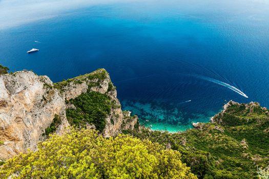 Фото бесплатно Монте Соларо гора на острове Капри в Кампания, Италия