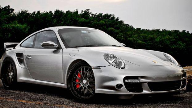 Photo free Porsche, Gray, Headlights