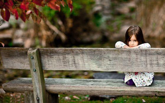 Фото бесплатно ребенок, девочка, сидит