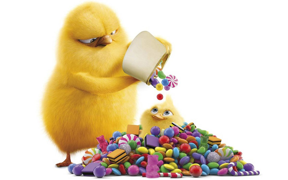 Фото бесплатно цыпленок со сладостями, карамельки, конфеты - на рабочий стол