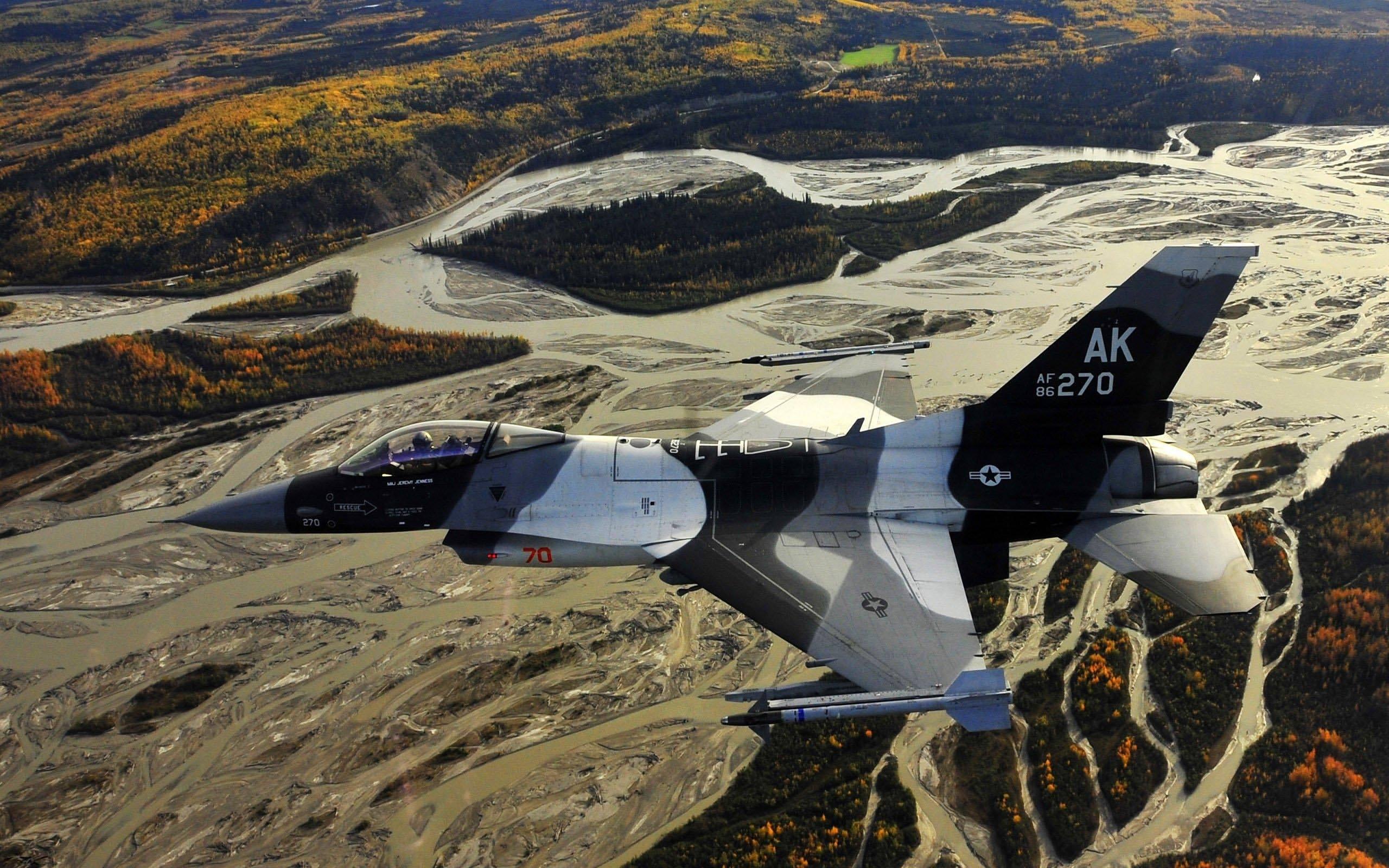 обои истребитель, F-16, США картинки фото
