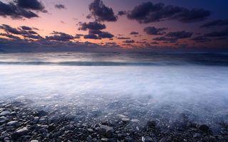 Фото бесплатно берег, вечер, море