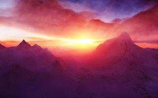 Photo free sky, peaks, sunset