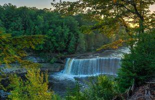 Бесплатные фото осень,река,водопад,деревья,пейзаж