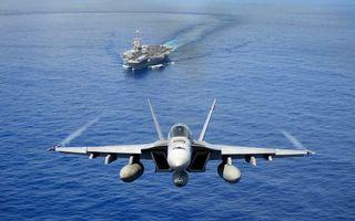 Фото бесплатно истребитель, авианосец, корабль