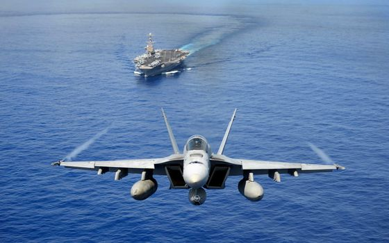 Photo free fighter, aircraft carrier, ship