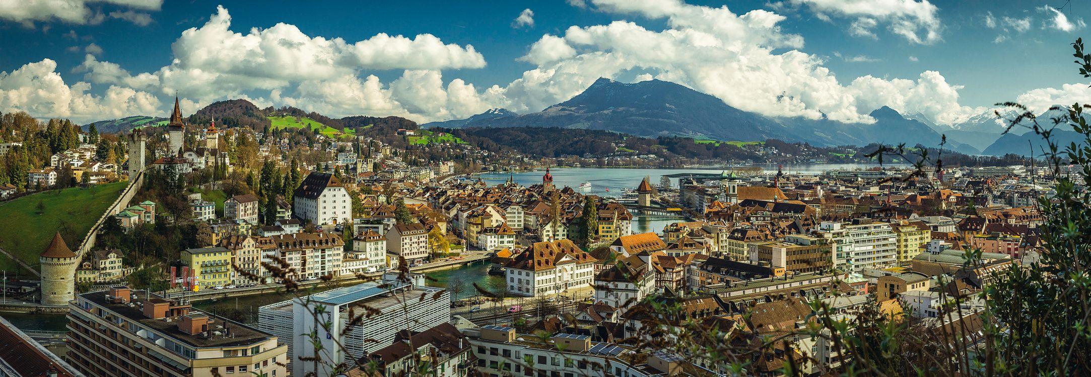 Фото бесплатно Panorama, Lucerne, Switzerland - на рабочий стол