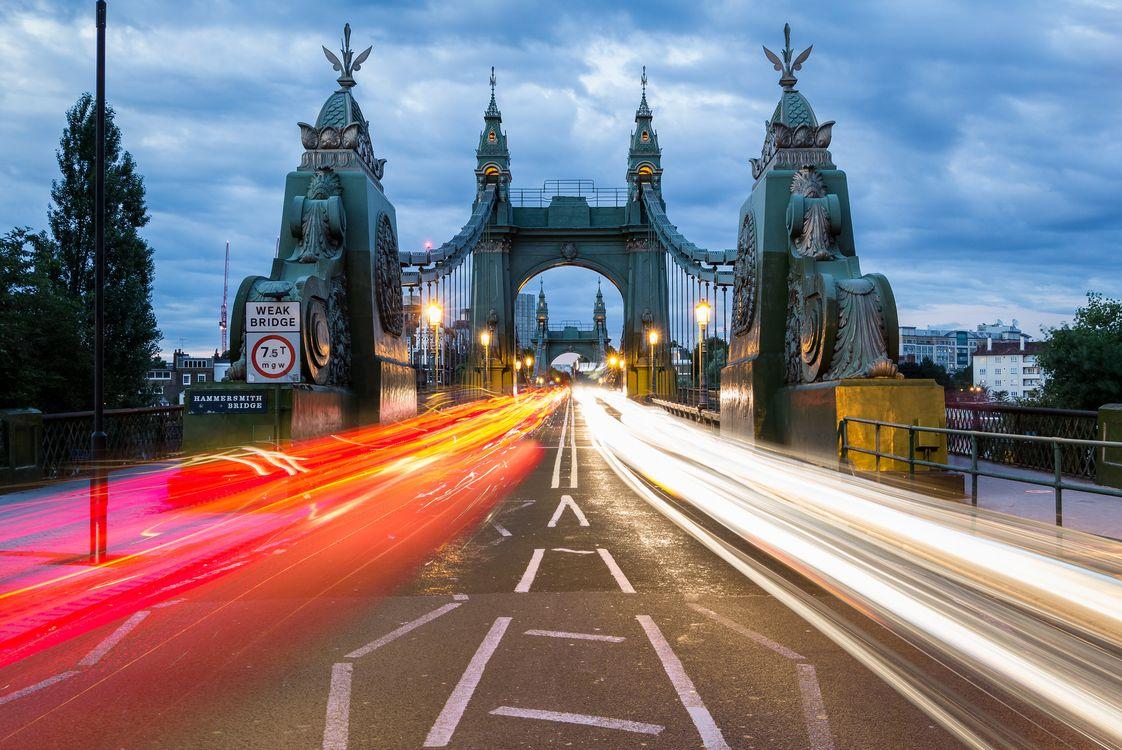 Фото бесплатно Hammersmith Bridge, England, London - на рабочий стол