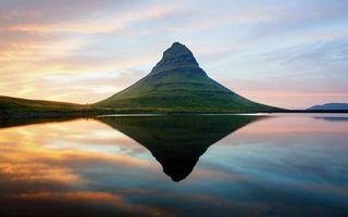 Бесплатные фото озеро,гладь,отражение,гора,небо,облака