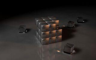 Бесплатные фото кубик Рубика,одноцветный,разобранный,грани,отражение