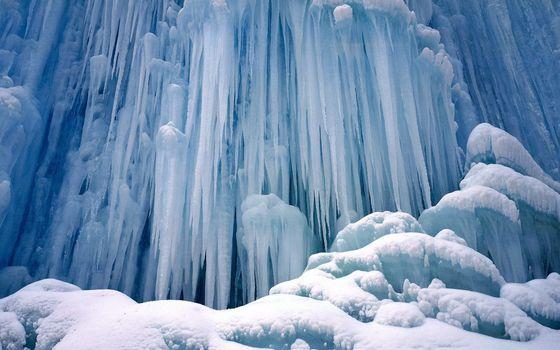 Фото бесплатно снег, лед, сосульки