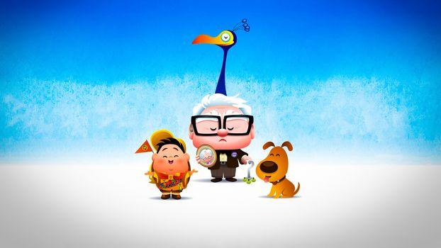 Бесплатные фото вверх,мальчик,собака,дедушка,птица,обои