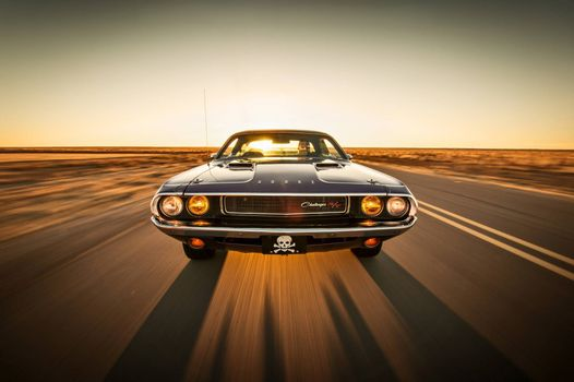 Photo free Dodge Challenger, muscle car, classic