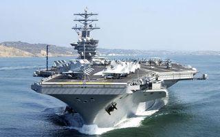Заставки корабль,авианосец,палуба,самолеты,море,берег