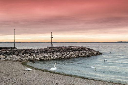 Фото бесплатно озеро Гарда, Италия, закат
