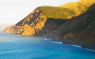 Бесплатные фото море,побережье,горы,дорога,мост