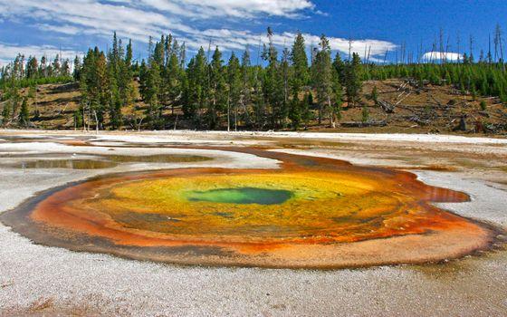 Фото бесплатно озеро, цветное, аномалия