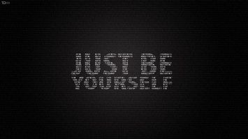 Заставки буквы, будь собой, just be yourself