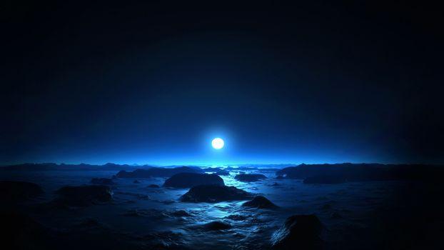 Бесплатные фото марс,закат,солнце,синий цвет,космос