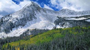 Заставки горы, снег, природа