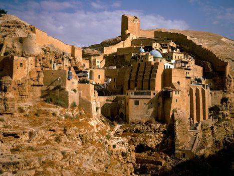 Бесплатные фото дома,старинные,небо,голубое,стена,горы,камни,город