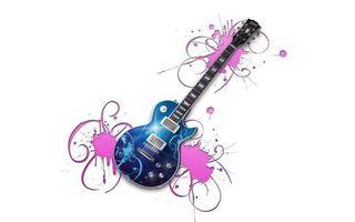 Заставки гитара, веселая, яркая, музыка, синяя, необычная