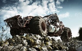 Photo free karting-cross-country vehicle, SUV, clouds
