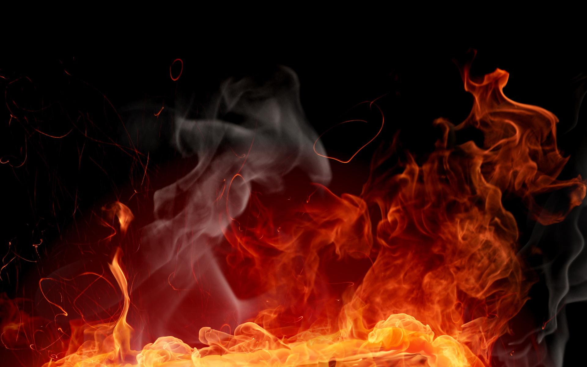 Обои огонь, пламя, костер, жар