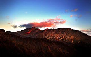Фото бесплатно песок, горы, вершина