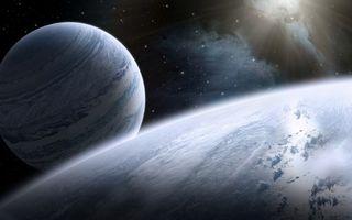 Бесплатные фото планета, облака, лучи, вода, кислород, спутник, газовый