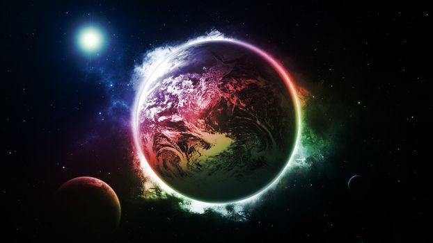 Фото бесплатно планеты, солнце, свет