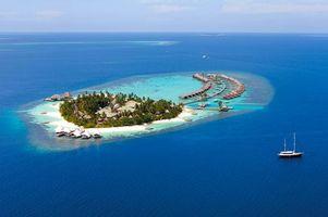 Фото бесплатно Мальдивы, море, бунгало