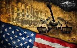 Бесплатные фото world of tanks,мир,танков,американские,пт-сау,т95,флаг